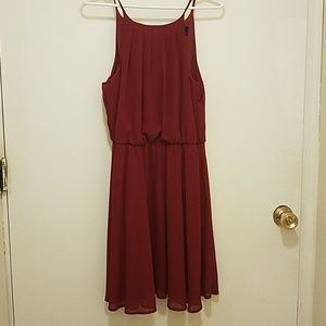Reddish Burgundy Dress